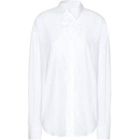 《期間限定セール開催中!》8 by YOOX レディース シャツ ホワイト 38 オーガニックコットン 100%