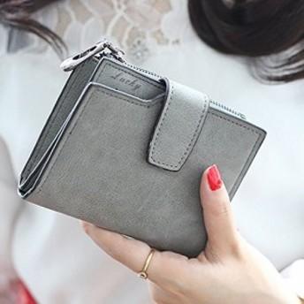 レディース 二つ折り財布 PU皮革 多機能 カード入れ 札入れ 小銭入れ 女性用