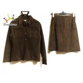 アリスバーリー Aylesbury スカートスーツ サイズM レディース ダークブラウン レザー         スペシャル特価 20190401