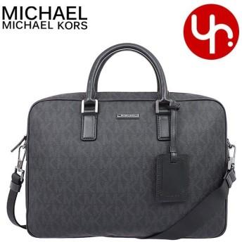 マイケルコース MICHAEL KORS バッグ ビジネスバッグ 37T7LMNA3B ブラック シグネチャー ラージ ブリーフケース アウトレット メンズ レディース