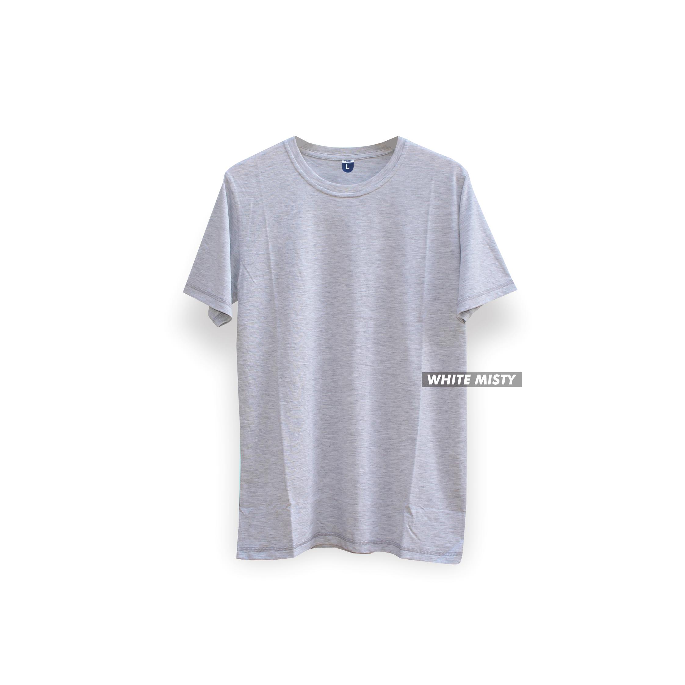 Cottonbdg Shop Line Kaos Polos Black Misty Lengan Pendek White