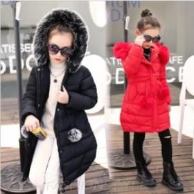 韓国子供服 コート キッズ 子供服 ジュニア 女の子 中綿コート ロングコート アウター 秋冬 長袖