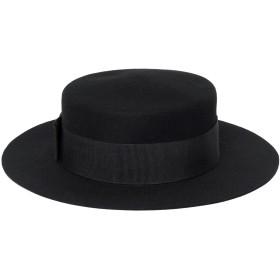 《期間限定セール開催中!》8 by YOOX レディース 帽子 ブラック 56 ウール 100%