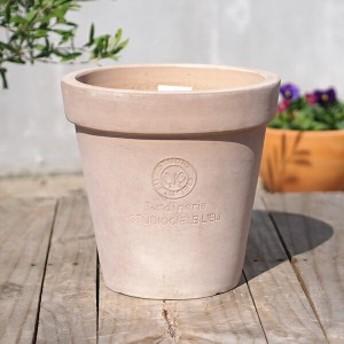 植木鉢 テラコッタ おしゃれ 陶器鉢 シエルスタンダードポット Sサイズ (LTC-D08 S) 直径24cm×高さ