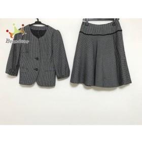 アナイ ANAYI スカートスーツ サイズ38 M レディース 黒×白 チェック柄       スペシャル特価 20190916