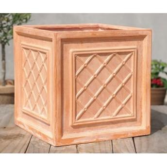 植木鉢 テラコッタ風 おしゃれ 軽い ファイバークレイ ウィンザーボックス 32T1 四角形 深型