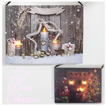 Harmonier LEDピクチャー 小 キャンドル / ドッグ クリスマス Xmas 絵画 インテリア ハルモニア 室内イルミネーション フレーム