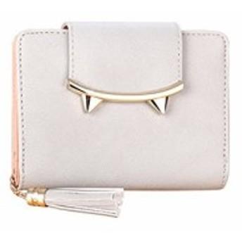 レディース 財布 二つ折り タッセル 型押し ボックス型 カード ウォレット シンプル ミニ財布 おしゃれ お札 小銭入れあり カード