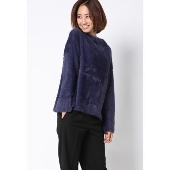 Ketty Cherie / 【洗濯可】feather yarnボトルネックニットプルオーバー