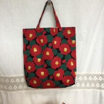 椿の花柄トートバッグ