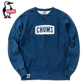 チャムス CHUMS スウェット メンズ CHUMS Logo Crew Top Indigo チャムスロゴクルートップインディゴ CH00-1154 od