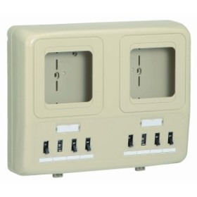 未来工業 電力量計ボックス 〈分岐ブレーカ(2P1E・20A)ELB付(2P30A・OC付)〉 WP2W-201KJ