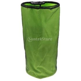 全2色 防水巾着バック バスケ/サッカー/バッグショルダー 安全保管 収納袋 球類バッグ 空間節約 - 緑