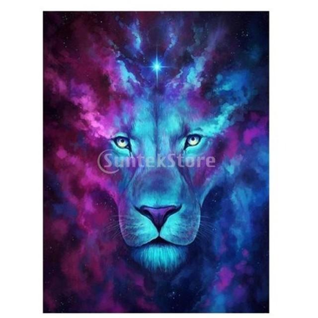5D ダイヤモンド 刺繍 絵画 クロスステッチ DIY アートクラフト 芸術的 家 デコレーション 全8デザイン - 動物ライオン