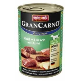 アニモンダ ドッグフード グランカルノ ミックス 牛肉と鹿肉 ウェットタイプ 缶詰[400g」 成犬用