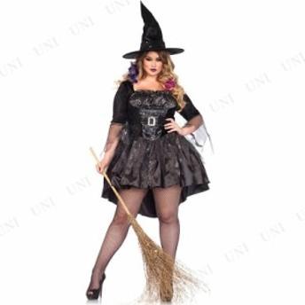 コスプレ 仮装 ブラックスパンコールウィッチ 1X-2X コスプレ 衣装 ハロウィン 仮装 コスチューム 大きいサイズ レディース 大人用 女性