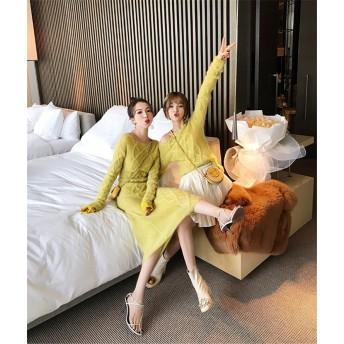 ※新生活応援SALE※ 韓国ファッション CHIC気質 怠惰な風 ゆったりする ニットトップス