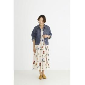 Munich / 【2WAY】シャーリングフラワープリントマキシスカート