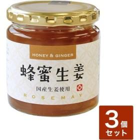蜂蜜生姜 はちみつしょうが 3個セット 手土産 お歳暮 ギフト ジンジャー はつみつ 内祝い 代引不可