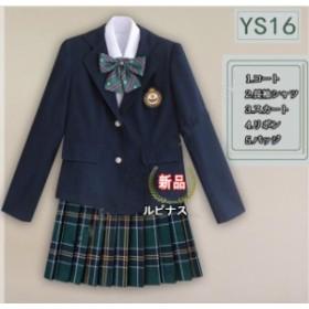 女の子スーツ 上下セット 卒業式 入学式 プリーツスカートスーツ ジャケット 5点セット 長袖  学生制服 フォーマル 制服 ジュニア