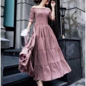 ドレス ワンピース ロング丈 オフショルダー エレガント 30代 大人可愛い 上品 きれいめ 春夏 結婚式 お呼ばれ a702