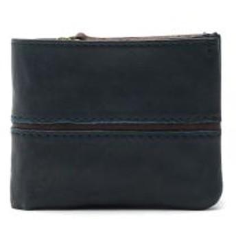 バギーポート 財布 BAGGY PORT 二つ折り財布 小銭入れ メンズ FULL CHROME フルクローム 革 レディース HRD-408 ネイビーxブラウン