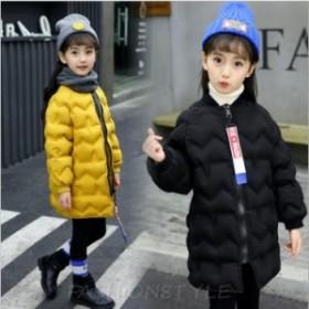 韓国子供服 中綿 コート アウター 女の子 キッズ アウター 無地 秋冬 暖かい 防寒 子供服 ガールズ ジャケット