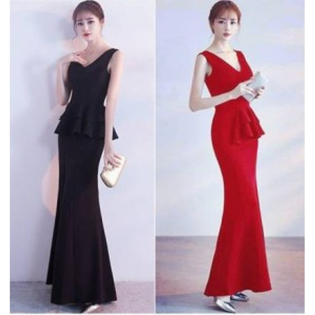 e81c7c62c6c55 ドレス ワンピース ロング丈 ノースリーブ 20代 黒 赤 タイト きれいめ 大人可愛い 春夏
