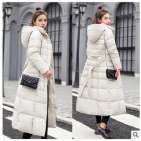 【送料無料】ダウンコットンロングコート ダウン ロングコート フード付き ファーはついてないタイプです 5サイズ6色からお選びいただけます