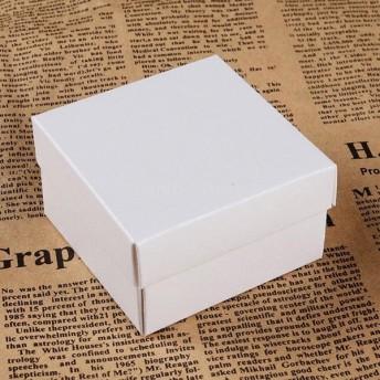 全4色 紙箱 リング イヤリング 宝石類の展示 正方形 ギフトボックス ケース 約25個セット - 白