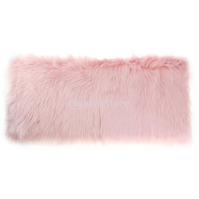 シャギー ふわふわ 絨毯 床マット 敷き布団 エリアラグ 居間、ベッドサイド、椅子などに置く 80x50cm 多色可選 - ライトピンク