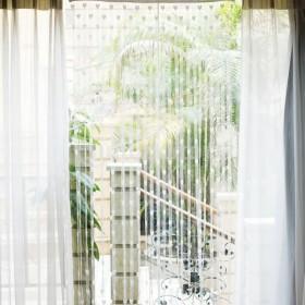 ドアカーテン ハートタッセル  窓 部屋デバイダ 装飾 飾り (ホワイト)