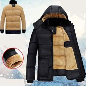 袖まで裏起毛付き メンズ 冬コートジャケット 上半身もこもこ 裏起毛