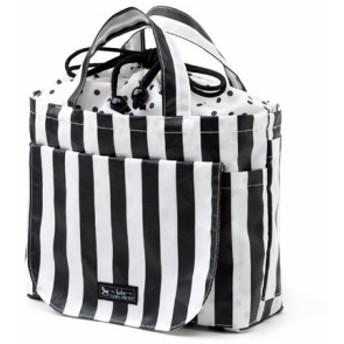 おむつポーチ 巾着トートタイプ wide stripe(broadcloth・black) B1305100