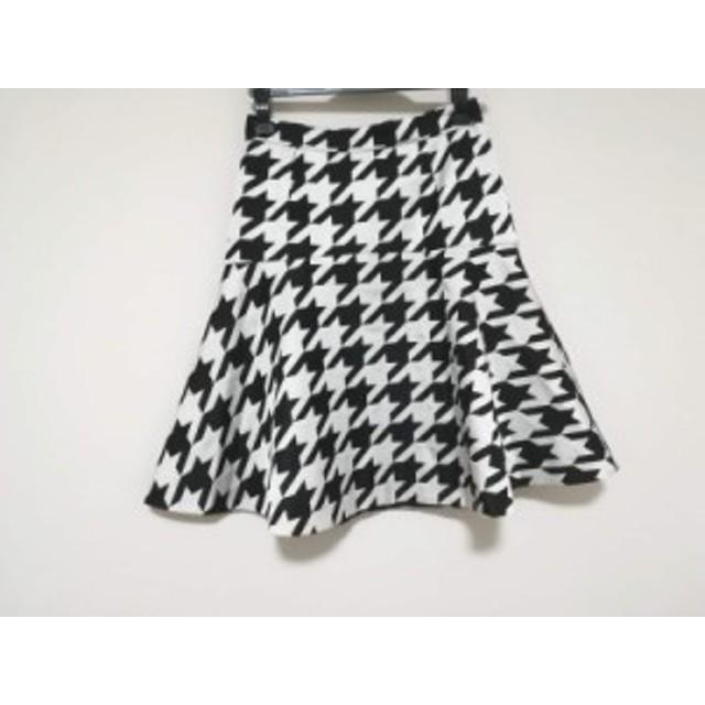 ピンキー&ダイアン Pinky&Dianne スカート サイズ36 S レディース 美品 白×黒 千鳥格子【中古】