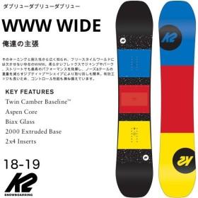 【国内正規品】 ケーツースノーボード K2 スノーボード メンズ WWW WIDE 【18-19 モデル】