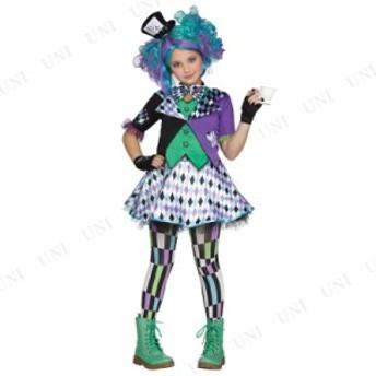 !! マッドハッター 子供用 L 仮装 衣装 コスプレ ハロウィン 子供 キッズ コスチューム 女の子 帽子 不思議の国のアリス グッズ マッドハ