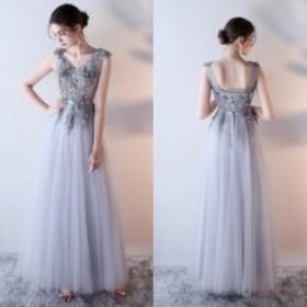 ワンピース ドレス オシャレ 結婚式 パーティー お呼ばれ グレー