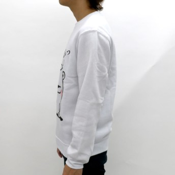 スウェット・ジャージ - MARUKAWA ヨッシースタンプ スウェット トレーナー メンズ 秋 裏起毛 キャラクター プリント ホワイト/グレー/ブラック/ピンクM/L/LL【 スエット ヨッシー LINE スタンプ うさぎさん くまさん おもしろ かわいい】