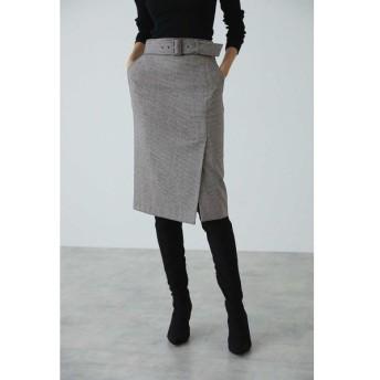 PINKY&DIANNE / ウールチドリサイドベンツスカート