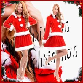 クリスマス用コスチューム - BELLE SHOP サンタクリスマスコスプレ 大きいサイズXL XXL サンタ コスプレ/サンタクロース 衣装/サンタ 衣装/サンタクロース/クリスマス 上下セット/レディース サンタ コスプレ/ワンピース サンタ/XL/ 5 A9