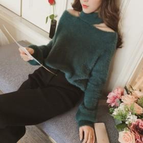 ニット・セーター - luby AW新作 秋冬物 長袖ハイネックニットセーター 韓国ファッション