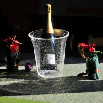 Creema限定 Luneのクリスマステーブルウェア 泡がきらきら輝くアクアワインクーラー
