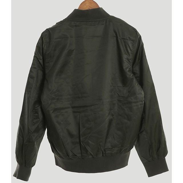 ミリタリージャケット - Style Block MEN ブルゾン ジャンパー MA-1 MA1 長袖 ミリタリージャケット フライトジャケット ワッペン付き 中綿 中わた アウター メンズブラック カーキ 冬先行