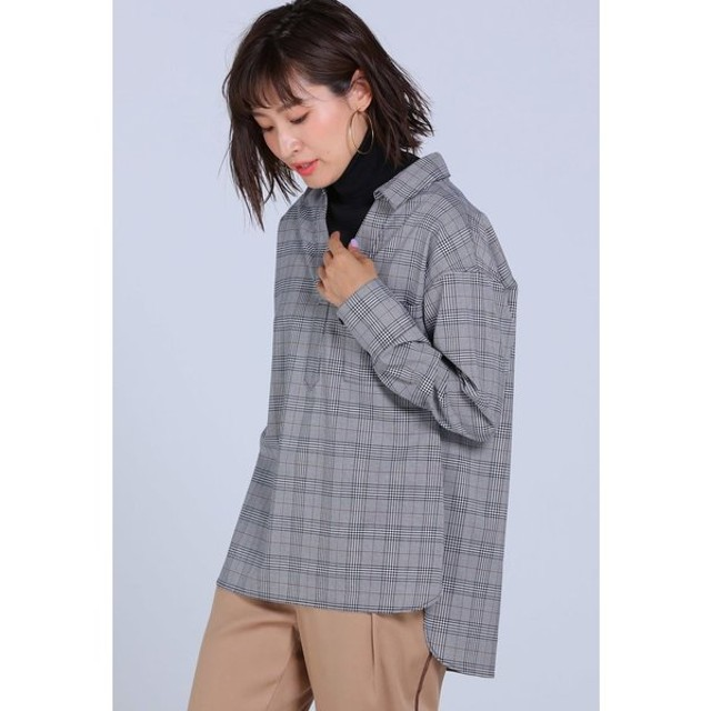MAYSON GREY / 【手洗いOK】レイヤード風タートルネックシャツ