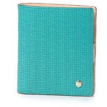トプカピ TOPKAPI メッシュ柄型押し・二つ折りミニ財布 RITMO リトモ (ブルーグリーン)