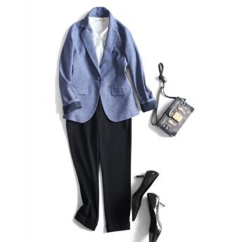 入学式 卒業式 スーツ テーラードジャケット 長袖 無地 アウター リクルート レディース ビジネス 大きいサイズ フォーマル 入園式STZ7623
