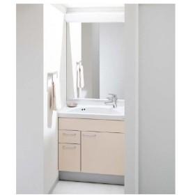 TOTO スリムシリーズ 間口7500ミリ 価格及び画像は LDSJ75LBMRP(洗面化粧台) LMJ750HR(一面鏡)化粧台カラー:イノセンスピンク