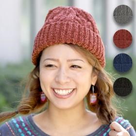ニット帽 - チチカカ チチカカ モールニット帽 zhwcba7020ニット レディース