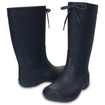 【クロックス公式】 クロックス フリーセイル レイン ブーツ ウィメン Women's Crocs Freesail Rain Boot ウィメンズ、レディース、女性用 ブルー/青 21cm,23cm,25cm,26cm boot ブーツ